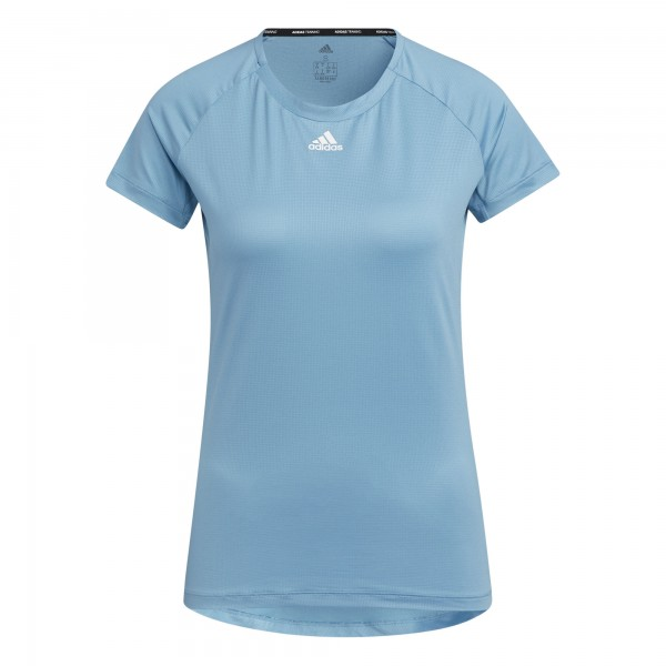 Adidas Damen Performance T-Shirt Funktionsshirt hellblau