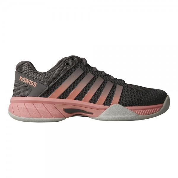 K-Swiss Damen Express Light Carpet Tennishallenschuh grau-pink