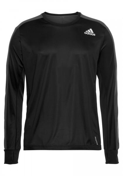 Adidas Herren Own The Run Laufshirt Langarmshirt schwarz