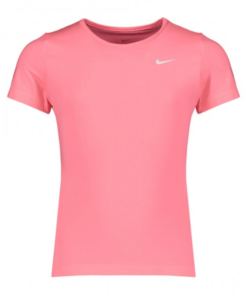 Nike Kinder Pro Funktionsshirt T-Shirt pink-weiß