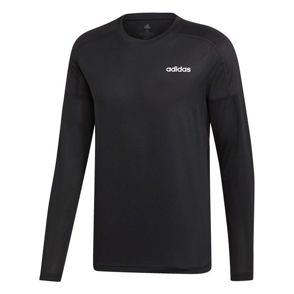 Adidas Herren D2M Langarm-Top schwarz