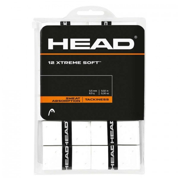 Head Xtreme Soft 12er Overgrip Griffbänder weiss