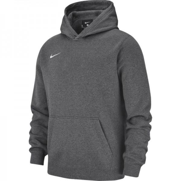 brand new bc8d6 a8ba9 Nike Kinder Fleece Team Club 19 Hoodie Kapuzenpullover grau-weiß