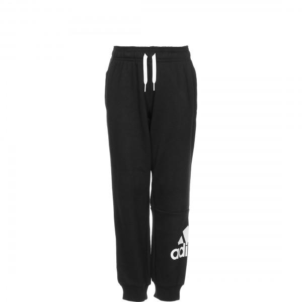 Adidas Jungen Big Logo French Terry Jogginghose Trainingshose schwarz-weiß