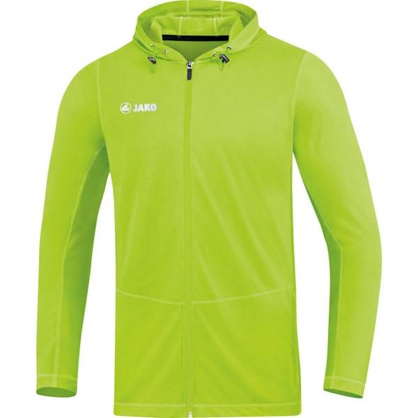 Jako Herren Run 2.0 Kapuzenjacke Sport- Trainingsjacke neongrün