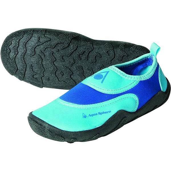 Aqua Sphere Kinder Beachwalker Schwimmschuhe Badeschuhe türkis-blau-schwarz