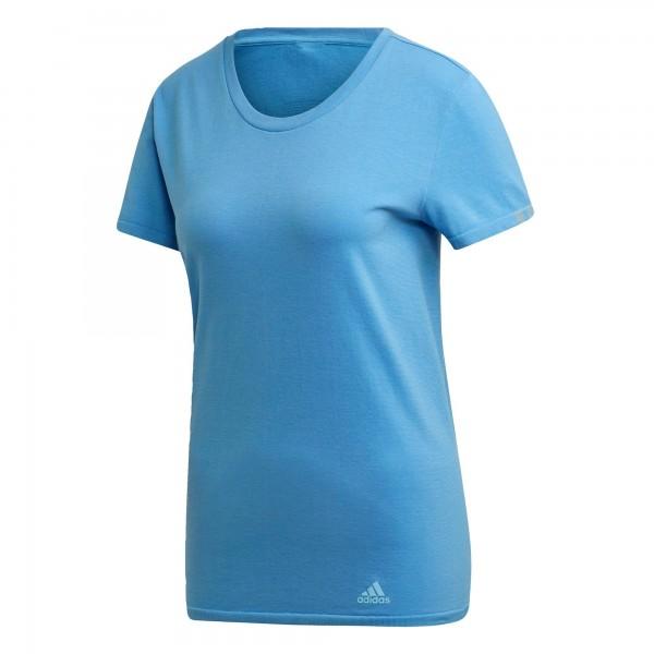 Adidas Damen 25/7 Tee Funktionsshirt Laufshirt blau