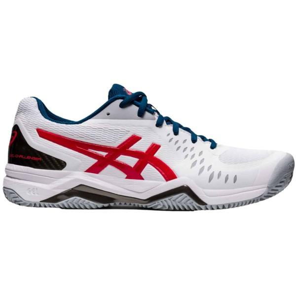 Asics Herren Gel-Challenger 12 Clay Tennisschuh weiß-rot-grau
