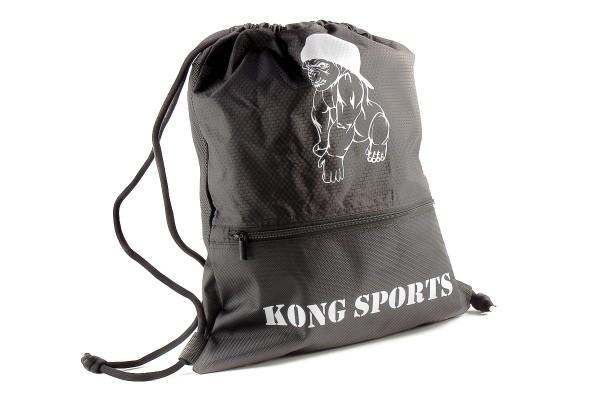 Kong Sports Unisex Turnbeutel Gymsack schwarz/weiß