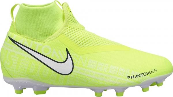 Nike Kinder JR Phantom VSN Academy DF Fussballschuh neongelb