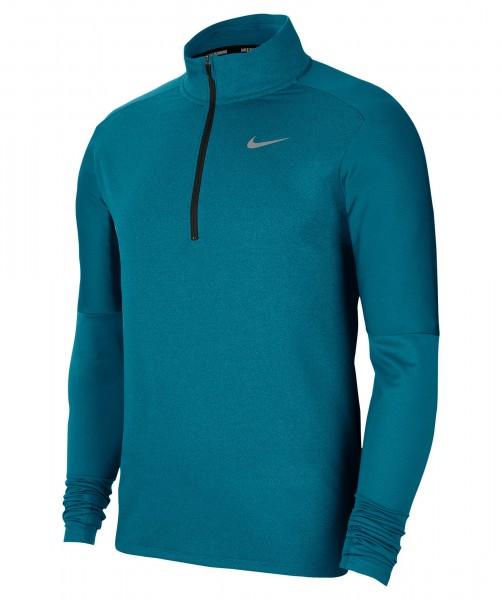 Nike Herren Element Dri-Fit 1/2 Zip Langarmshirt Laufoberteil türkis