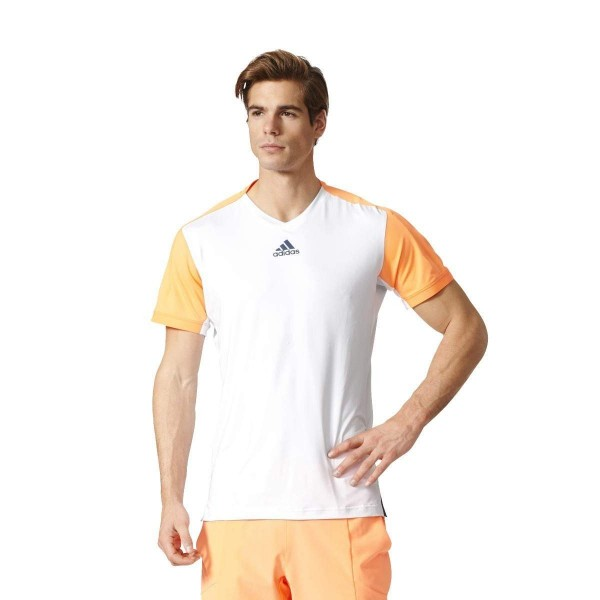 Adidas Performance Melbourne Tennisshirt Herren weiß/orange