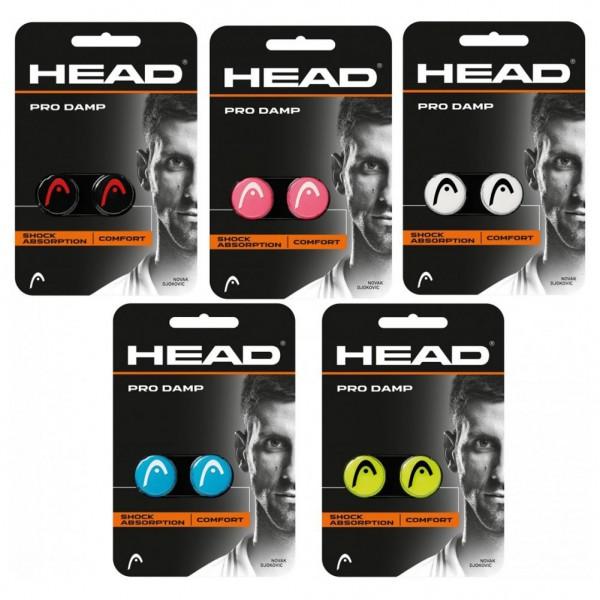 Head Pro Damp 2er Pack Vibrationsdämpfer schwarz weiss blau gelb pink