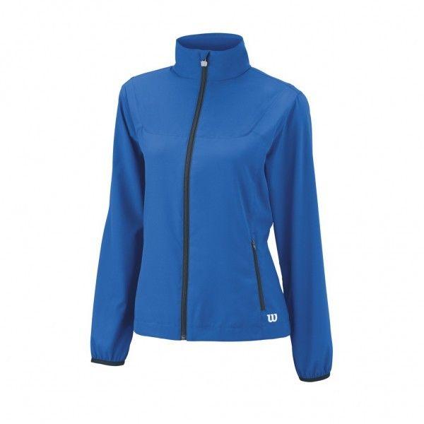 new style 9eb5f 5b0e9 Wilson Team Woven Jacket Women blau Damen Jacke 2016