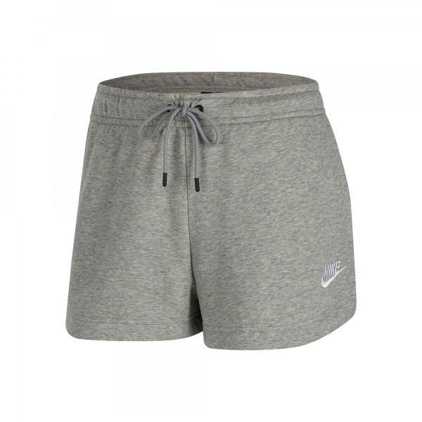 Nike Damen Sportswear Essential Short grau-weiß