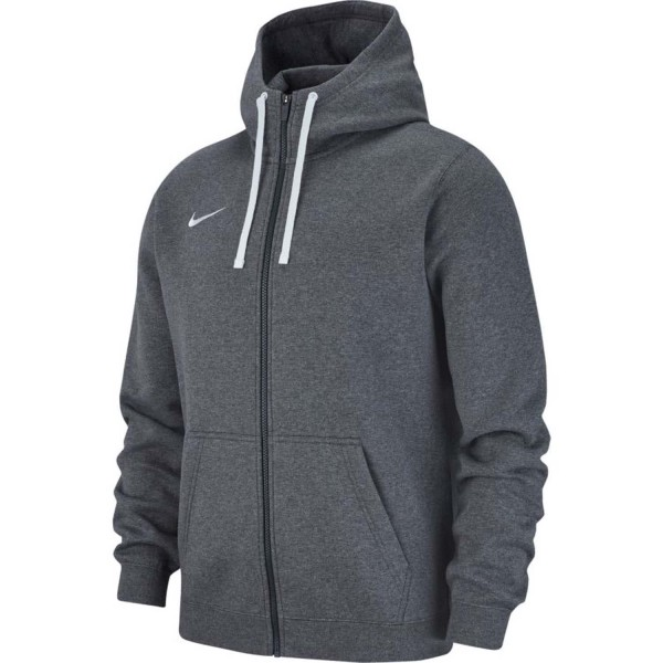 Nike Herren Team Club 19 Fleece Kapuzenjacke Full Zip Hoodie grau