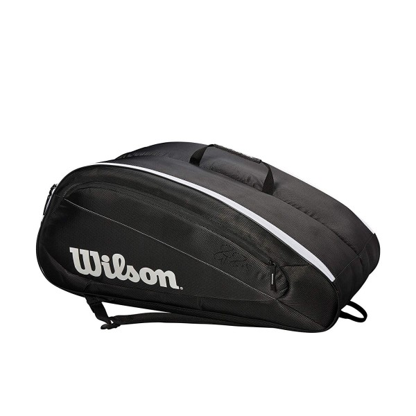 Wilson Tennisschläger-Tasche Federer Team 12 Pack schwarz/weiß
