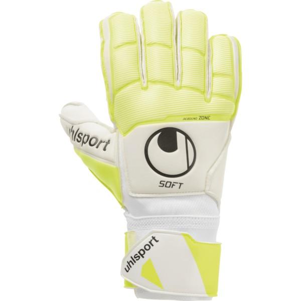 Uhlsport Pure Alliance Soft Flex Frame Torwarthandschuhe weiß-gelb-schwarz