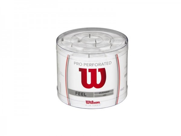 Wilson Pro Overgrip Perforated Overgrip Griffband 60er Pack weiß