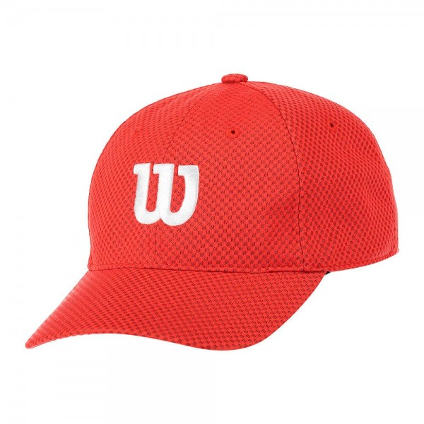 Wilson Unisex Cap Summer II rot & weiß