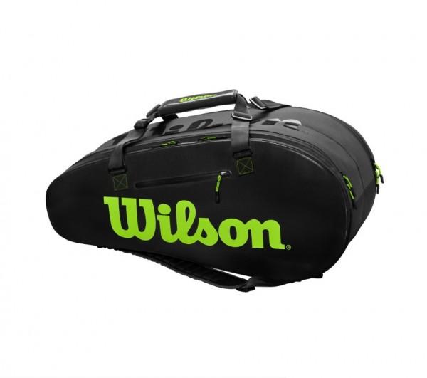 Wilson Tennistasche Super Tour 2 Comp schwarz/grün 2020