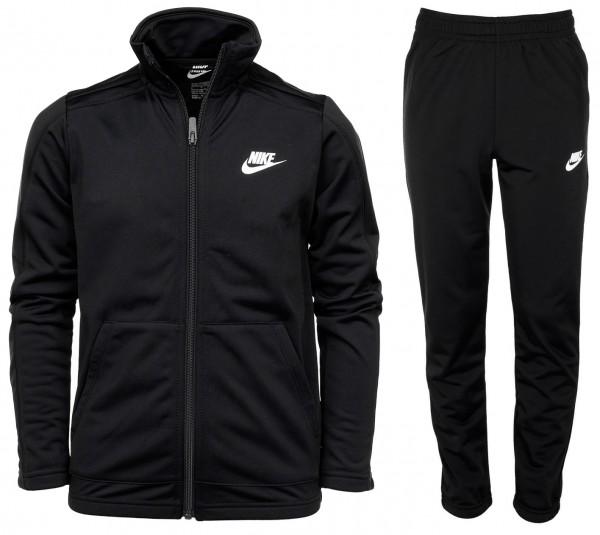 Nike Kinder Futura Big Trainingsanzug schwarz-weiß