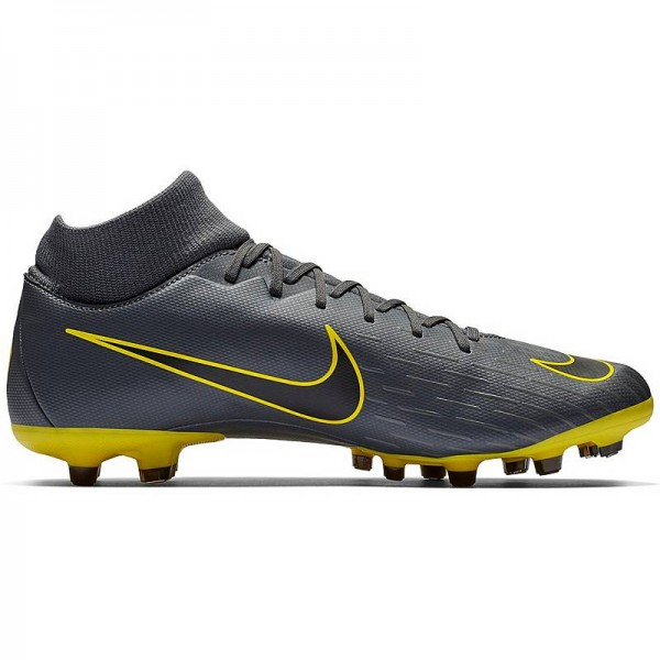Nike Herren Mercurial Superfly 6 Academy MG Fussballschuh grau gelb-schwarz