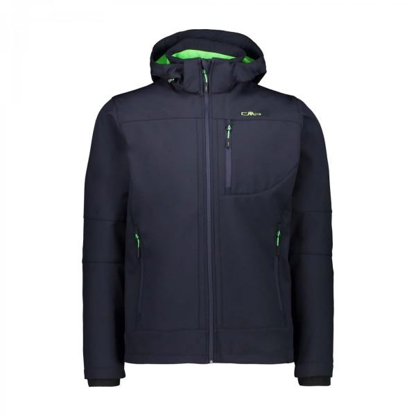 CMP Herren Zip Hood Jacket Softshell Outdoorjacke dunkelblau