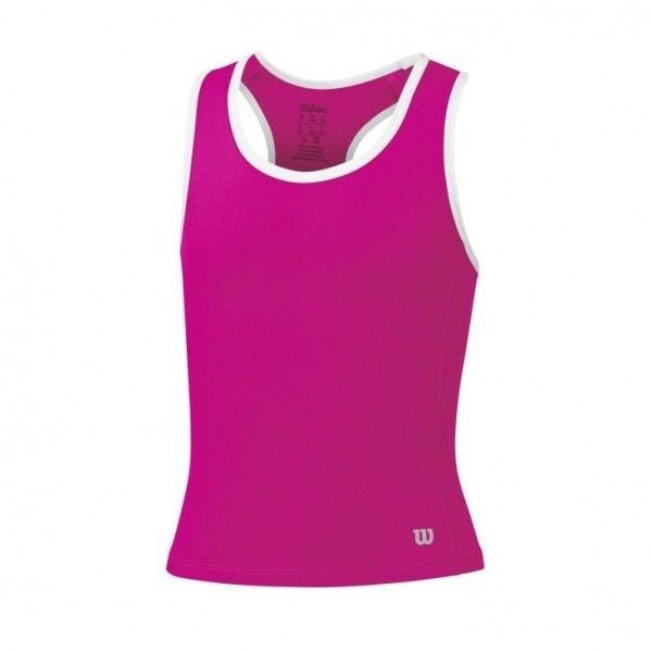 Wilson Rush Tank Top pink Tennisshirt Girls Kinder Tennisbekleidung 2016