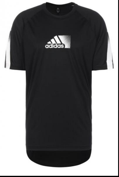 Adidas Herren Seaso Trainingsshirt Funktionsshirt schwarz-weiß
