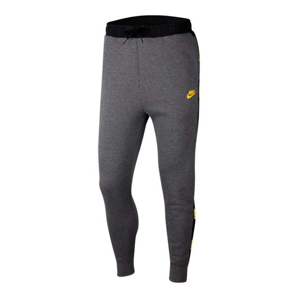 Nike Herren Sportswear Jogginghose Trainingshose grau-schwarz-gold